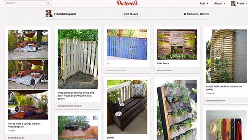 Genbrug af paller i haven